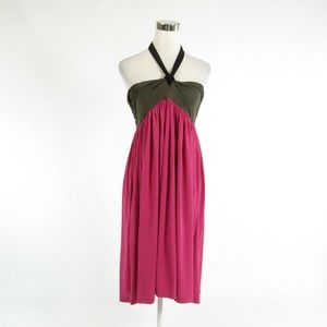 DKNY pink strapless empire waist dress M